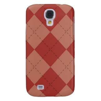 iPhone 3G Case - Argyle Squares - Strawberry Samsung Galaxy S4 Cases