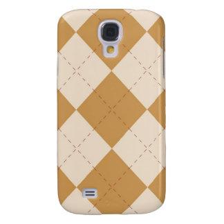 iPhone 3G Case - Argyle Squares - Wheat Samsung Galaxy S4 Case