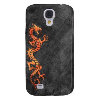iPhone 3G Case - Grunge Dragon on Black (orange) Samsung Galaxy S4 Covers