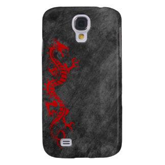iPhone 3G Case - Grunge Dragon on Black (red) Samsung Galaxy S4 Case