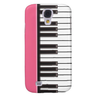 iPhone 3G Case - Piano Keys on Pink Galaxy S4 Case