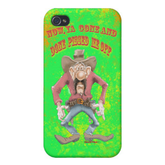 iPhone 3G Cases with cowboy cartoon drawing gun Cases For iPhone 4