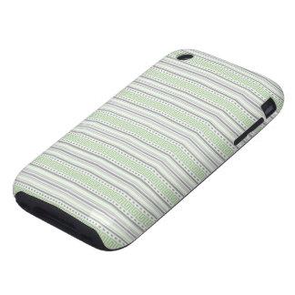 iPhone 3G del pistacho de la raya del traste duro iPhone 3 Tough Cobertura