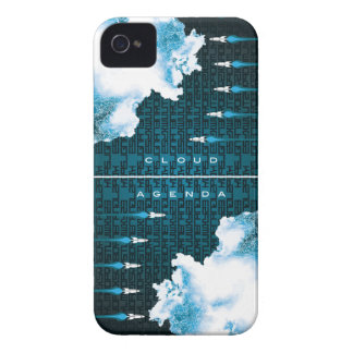 iPhone 4/4S Barely There Case-Cloud Agenda Rocket2 iPhone 4 Cover