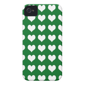 iPhone 4/4s Barely There Case Green with Hearts