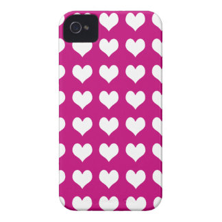 iPhone 4/4s Barely There Case Pink with Hearts