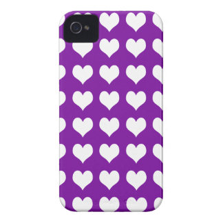 iPhone 4/4s Barely There Case Purple with Hearts