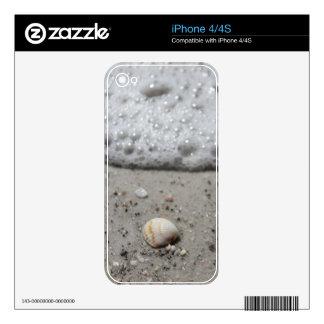 Iphone 4/4s beach seashell skin skins for the iPhone 4S