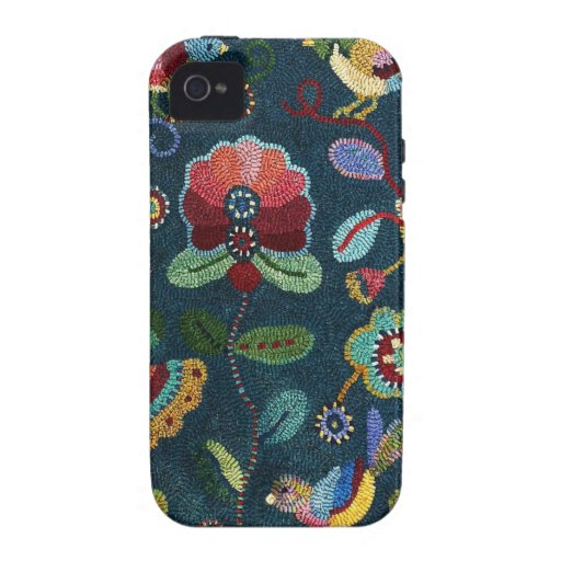 IPhone 4/4s case Hooked Rug Design