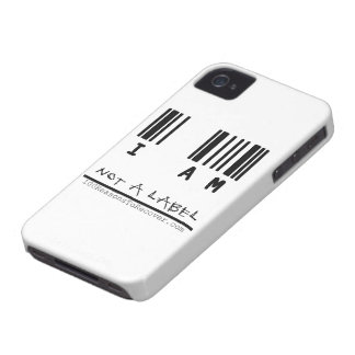 """iPhone 4/4s Case - """"Not a Label"""""""