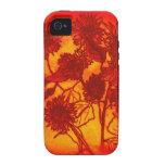 iphone 4/4S case-Sassy Sunflowers in Orange iPhone 4 Covers