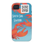 iPhone 4/4s Case Template Seafood Restaurant