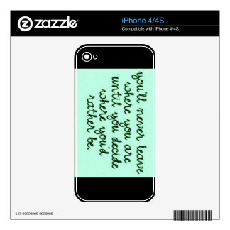 iPhone 4/4S case - You'll never leave where you ar Decals For iPhone 4S