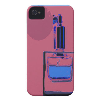 iPhone 4/4S cover pink with perfume bottle