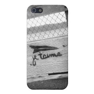 iPhone 4/4S, de Je T'aime (te amo) caso 5/5S/5C iPhone 5 Funda