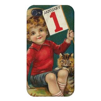 iPhone 4/4S de la muestra de los años del niño w/N iPhone 4 Protectores