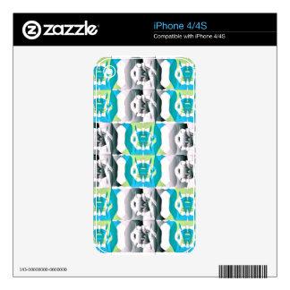 iPhone 4/4S de la piel de Zazzle Skins Para iPhone 4