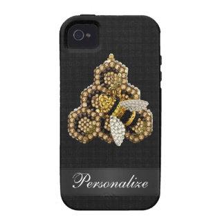 iPhone 4 4S de las joyas del diamante de la abeja iPhone 4 Carcasas