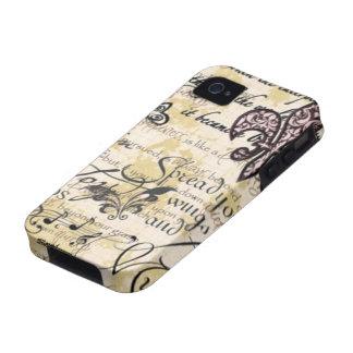 iPhone 4 4s del caso de la flor de lis Vibe iPhone 4 Funda