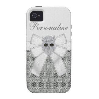 iPhone 4 4S del cráneo y de la corona del diamante iPhone 4 Fundas