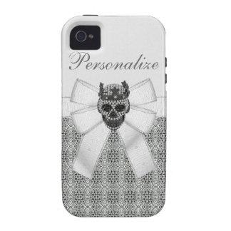 iPhone 4 4S del cráneo y de la corona del diamante Vibe iPhone 4 Carcasas