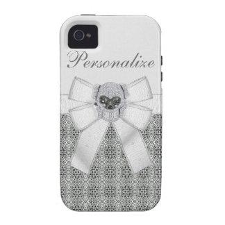 iPhone 4 4S del cráneo y del arco del diamante iPhone 4/4S Carcasas