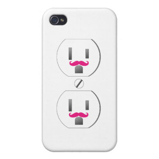 iPhone 4/4s del diseño del bigote del enchufe de p iPhone 4/4S Fundas