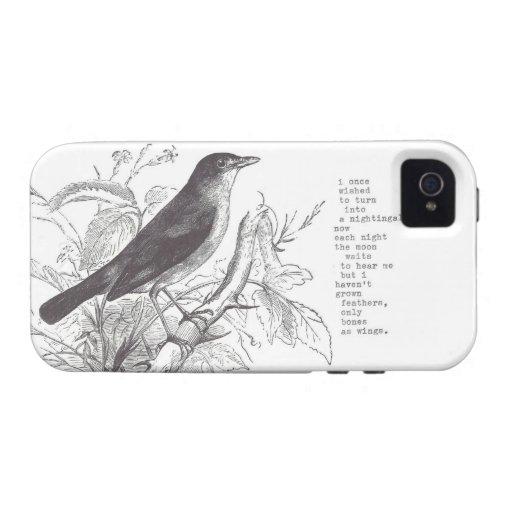 "iphone 4/4s del ""usignuolo"" Case-Mate iPhone 4 fundas"