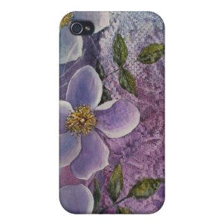 iPhone 4/4S - Flores de la fantasía iPhone 4 Protectores