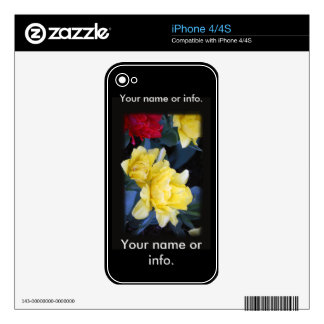 iPhone 4/4S flowers by L.A. Usrey Magicphotofix iPhone 4S Decals