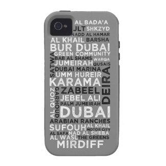 iPhone 4 4S - Gris de la cubierta de Dubai iPhone 4/4S Funda