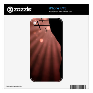iPhone 4 4S Skin - Cross With Red Starburst iPhone 4 Decal
