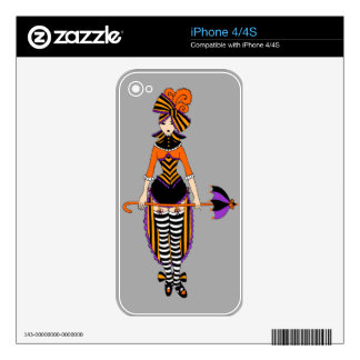 iPhone 4/4S skin Dark Victorian Circus Girl Decals For iPhone 4S