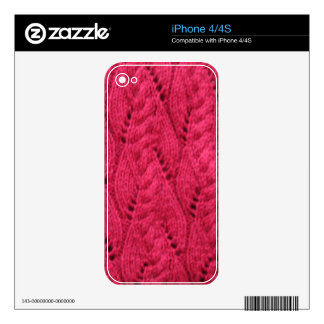 iphone 4/4S skin knitted pattern Decal For iPhone 4