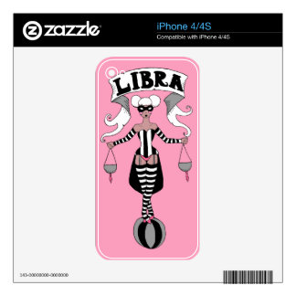 iPhone 4/4S skin Libra circus girl zodiac Decals For iPhone 4S
