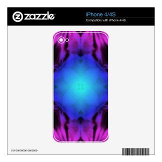 iPhone 4/4S Skin (Purple/Blue Kaleidoscope) iPhone 4S Skin