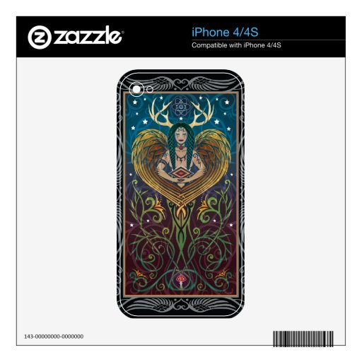iPhone 4/4S Skin - Shaman by C. McAllister Skins For iPhone 4S