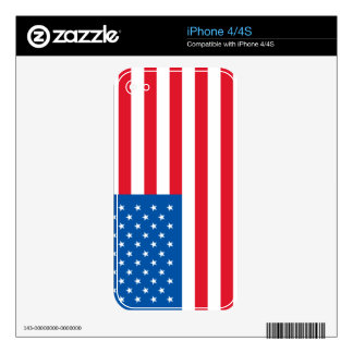 iPhone 4/4S Skin - U.S.A. Flag Decal For iPhone 4