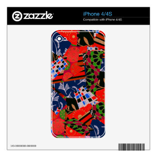 iPhone 4/4S Skin with Brilliant Collage Decal For The iPhone 4