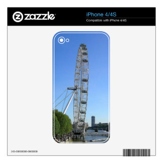IPhone 4/4S Skin with London Eye Ferris Wheel iPhone 4S Decals