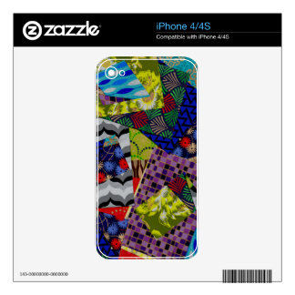 iPhone 4/4s Skin with Multi-Patterned Design iPhone 4 Skins