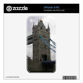 IPhone 4/4S Skin with Tower Bridge over the Thames iPhone 4S Skins