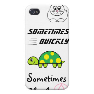 iPhone 4/4S Sometimes Quickly, Sometimes Slowly iPhone 4 Case