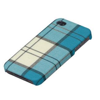 iPhone 4/4S SPECK® C del tartán de la turquesa del iPhone 4 Protectores