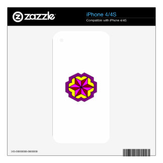 iPhone 4/4S-Star With Yellow Background iPhone 4 Decal