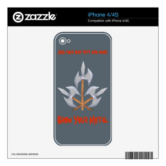 iPhone 4/4S three Crossed Battle Axes Decals For The iPhone 4