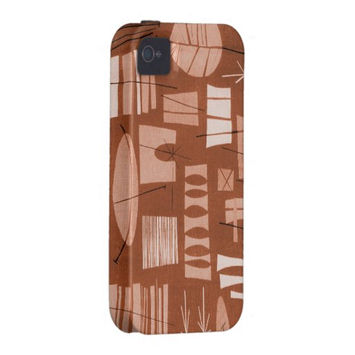 iPhone 4/4S Tough Case: GEOMETRIC 2-COPPER KETTLE iPhone 4 Covers