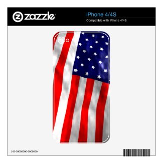 iPhone 4/4s US Flag skin Decal For iPhone 4