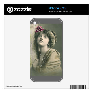 Iphone 4/4s vintage fashion skin decals for the iPhone 4S