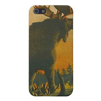 Iphone 4 alces del caso en ocaso del crepúsculo de iPhone 5 cárcasas